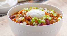 The Biggest Loser Crock Pot Turkey Chili Recipe - iFOODreal | Delicious Clean Eating Recipes