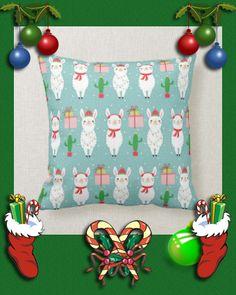 Winter Christmas Llamas   Holidays Throw Pillow #christmas #llama #cactus #alpaca #winter #ThrowPillow #customize #personalize #holidays #christmas Llama Christmas, Christmas Pillow, Winter Christmas, Christmas Lights, Christmas Decorations, Cute Llama, Pillow Arrangement, Pillow Quotes, Llamas