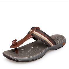 Verão De 2016 Nova Moda Homens Sandálias Flip Flops Sapatos de Praia Masculino Sandálias de Couro Genuíno Dos Namorados de Cortiça Chinelos Plus Size