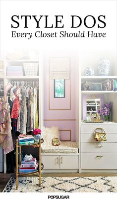 Make sure to check these style dos that every closet should have off of your list.                   Source: Mimosa Lane