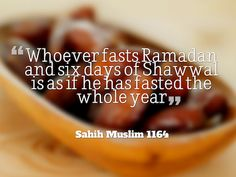 Why should we be fasting for 6 extra days?