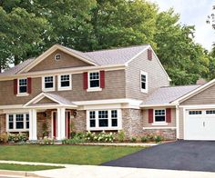 Does your home need an updated color scheme? Consider a well-liked option for home exterior color: red.