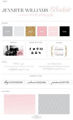 Website Design :: Jennifer Williams Boudoir Photography :: Saffron Ave