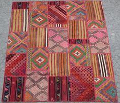One of a kind Old Turkish Kilim Patchwork .Turkish by Galatabazaar#Handmade#HandCraft#Art#antiqur carpet#