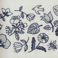 [エンベロープオンラインショップ] 1色刺繍と小さな雑貨 the linen bird 手芸