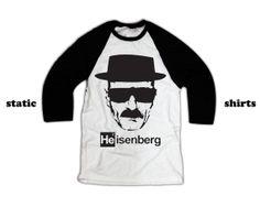 Heisenberg Long Sleeve Shirt | Breaking Bad Baseball Shirt
