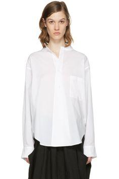Y's - Chemise à col ouvert blanche