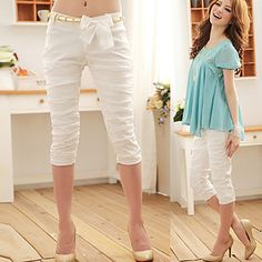Ruched Crop Pants