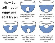 Tell if eggs are fresh