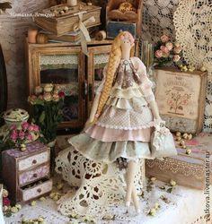 Куклы Тильды ручной работы. Ярмарка Мастеров - ручная работа Флорет текстильная интерьерная кукла Тильда ангел фея. Handmade.