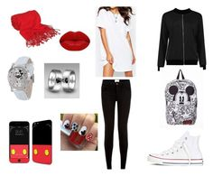 """""""MICKEY !!!!"""" by chaimae-megherbi on Polyvore featuring mode, ASOS, Converse, Forzieri, Disney et Winky Lux"""