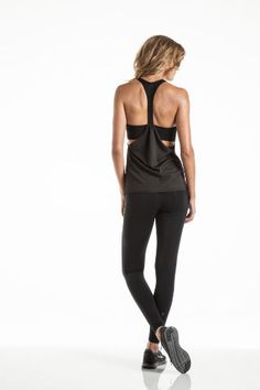 Classic Black Activewear for Every Day. I wonder if I could make a tank similar to this! So cute!