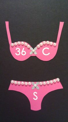 put these in your bachelorette invites so people won't be guessing your size. smart!