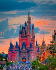 Magic Kingdom Sunset