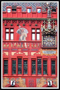 the clock on the City Hall Switzerland