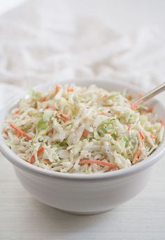 Just like my favorite potato salad recipe, this coleslaw recipe has been with me for many years, always evolving to reach that higher state of being. Over the years, I've. Veggie Dishes, Side Dishes, Classic Coleslaw Recipe, A Food, Food And Drink, Creamy Coleslaw, Corn Beef And Cabbage, Slaw Recipes, Outdoor Cooking