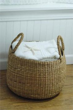 Sea Grass Basket - add some natural textures to our very formal bathroom
