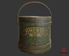 """""""Wooden_Hingham_Firkin"""" (wooden_bucket), Pawan Rawat on ArtStation at https://www.artstation.com/artwork/R9W4y"""