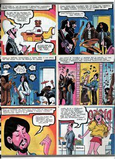 COMIC STRIPS. THE BEATLES COMICS
