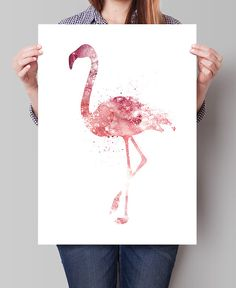 Flamingo Watercolor Painting Flamingo Art Print by FineArtCenter Flamingo Art, Pink Flamingos, Nursery Room Decor, Nursery Art, Superhero Wall Art, Avengers Art, Poster Prints, Art Prints, Pink Sky