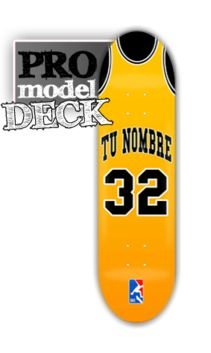 Tabla skateboard Angeles Lakers con tu nombre
