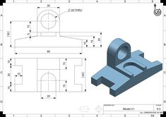 CAD Tutorials for Beginners - 21 Cad 3d, Orthographic Drawing, Mechanical Engineering Design, Cad Programs, 3d Drawings, Drawing Practice, 3d Modeling, Technical Drawing, Autocad