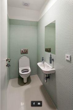 toilet room - modern look New Bathroom Ideas, Bathroom Inspiration, Small Bathroom, Cloakroom Ideas, Warehouse Living, Separating Rooms, Toilet Room, Downstairs Toilet, Bad Inspiration