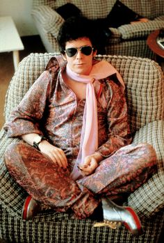 Lou Reed wearing the raddest outfit of all time, photograph by Mick Rock.