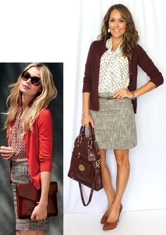 Inspiration: Banana Republic Top   , Skirt   , Sweater <http:…