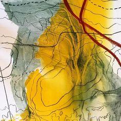 Mapping Matetsi #1, detail. #helenteedeart #mapping #walking #drawing #detail