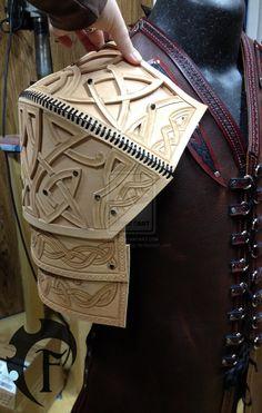 Celtic Warrior Shoulder WIP by Feral-Workshop.deviantart.com on @deviantART