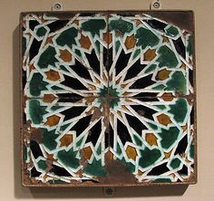 Panel of Tiles, Spain, 16th century
