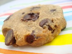4 Ingredient Chocolate Chip Cookie Recipe  Use sugar free or vegan chips for an even healthier cookie!