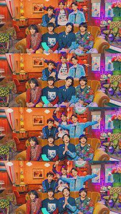BTS at the set of Friends Bts Taehyung, Bts Bangtan Boy, Bts Jungkook, Namjoon, Hoseok, Seokjin, Foto Bts, Kpop, Bts Show