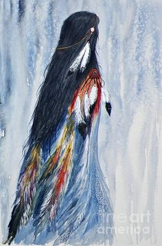 Angel Woman by Elizabeth  Webb - Angel Woman Painting - Angel Woman Fine Art Prints and Posters for Sale