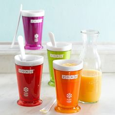 Zoku Slush and Shake Maker. Make frozen drinks like iced coffee, smoothies, root beer floats, etc.