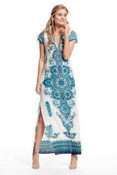 Mevora Hand Embellished Linen Dress