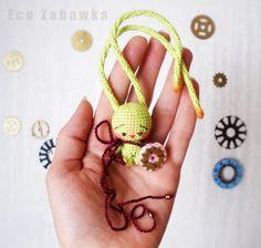 Eco Zabawka. Bunny-Doll. Miniature. Exclusive. Textile doll. Collection doll. Handmade doll. Steampunk. Art doll. Gift. Present. Souvenir. Christmas. https://www.instagram.com/eco_zabawka/