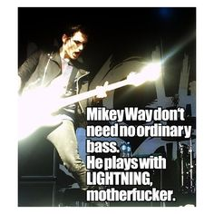 my chemical romance : just mikey fucking way being perf as always ❤