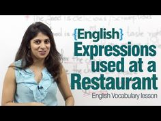 English expressions used at a restaurant - Advance English lesson - YouTube