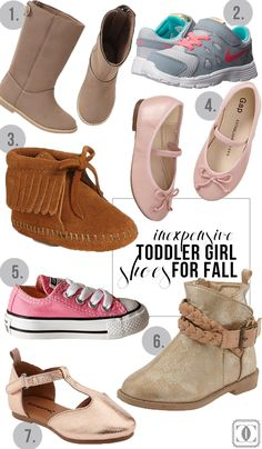 Affordable Toddler Girl Shoes for Fall! All under $30! www.styleyoursenses.com