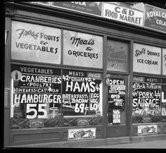 C & D Food Market. Ext photo of C & D Grocery Food market. :: Royal Photo Company Collection