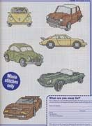 Mini Auto 02 more cars and boats Cross Stitch For Kids, Mini Cross Stitch, Classic Mini, Classic Cars, Hama Beads, Plastic Canvas, 3, Boats, Needlework