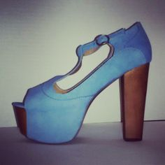 #JeffreyCampbell #Foxy in Blue from #NastyGal