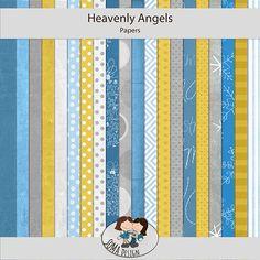 Oscraps.com :: Shop by Category :: All New :: SoMa Design: Heavenly Angels - Kit Heavenly Angels, Angels In Heaven, Kit, Paper, Shop, Design, Design Comics, Store