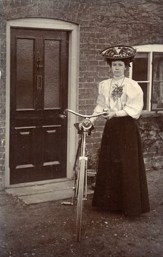 Edwardian woman with bike
