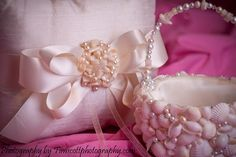 Pearl and Shell Ring Pillow Endless Summer Love Collection