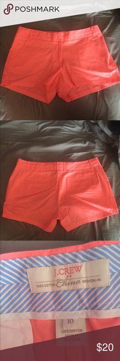 J.Crew 3' chino shorts Bright pink chino shorts, runs small J. Crew Shorts