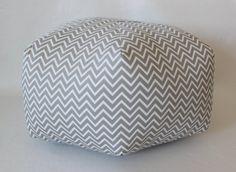 24 Ottoman Pouf Floor Pillow Cosmo Chevron by aletafae on Etsy, $115.00