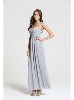 **Little Mistress Grey Lace Shoulder Maxi Dress - Dorothy Perkins